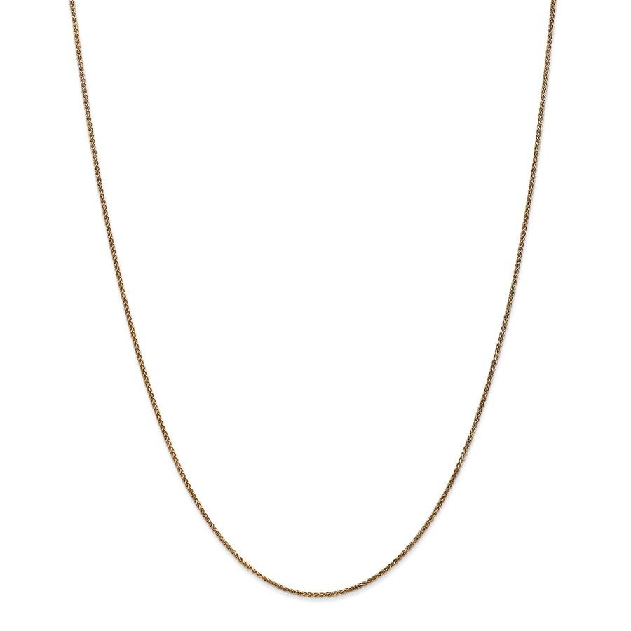 14k Gold 1.2 mm Diamond-cut Spiga Chain Necklace - 18 in.