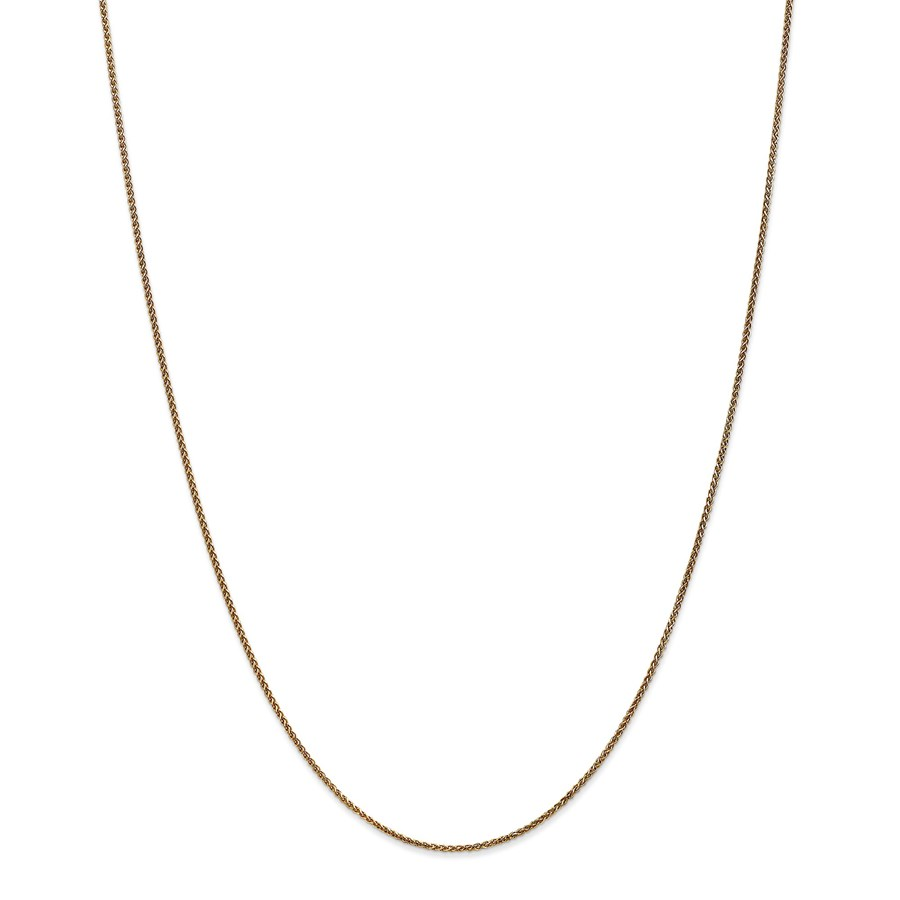 14k Gold 1.2 mm Diamond-cut Spiga Chain Necklace - 20 in.
