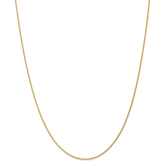 14k Gold 1.2 mm Parisian Wheat Chain Necklace - 16 in.