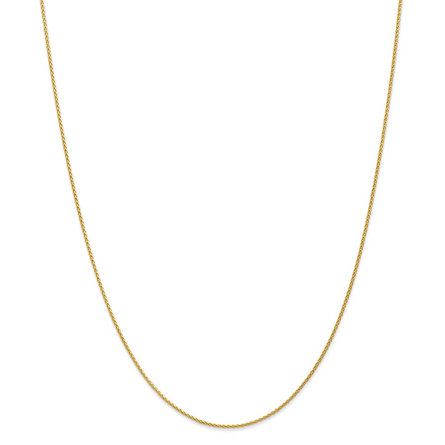 14k Gold 1.2 mm Parisian Wheat Chain Necklace - 20 in.