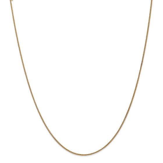 14k Gold 1.25 mm Spiga Chain Necklace - 18 in.
