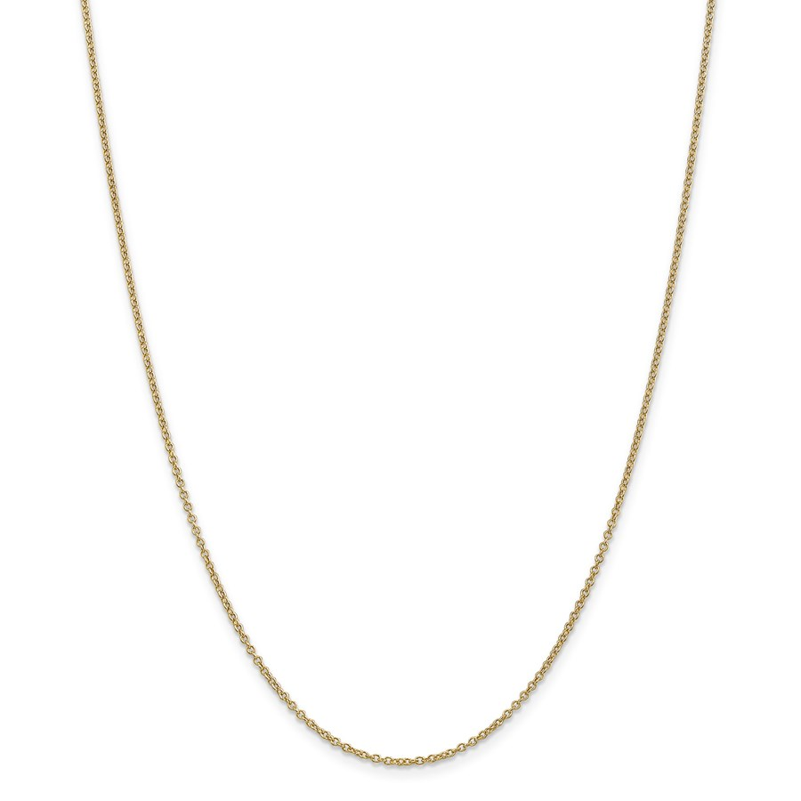 14k Gold 1.3 mm Cable Chain Necklace - 20 in.