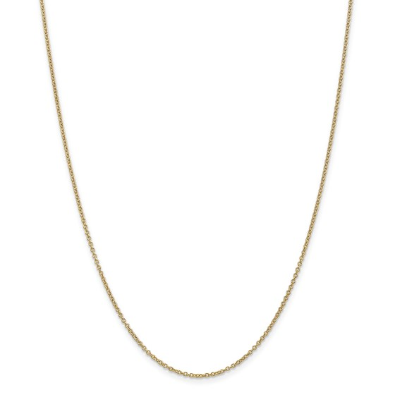 14k Gold 1.3 mm Cable Chain Necklace - 24 in.