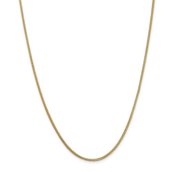 14k Gold 1.3 mm Franco Chain Necklace - 20 in.
