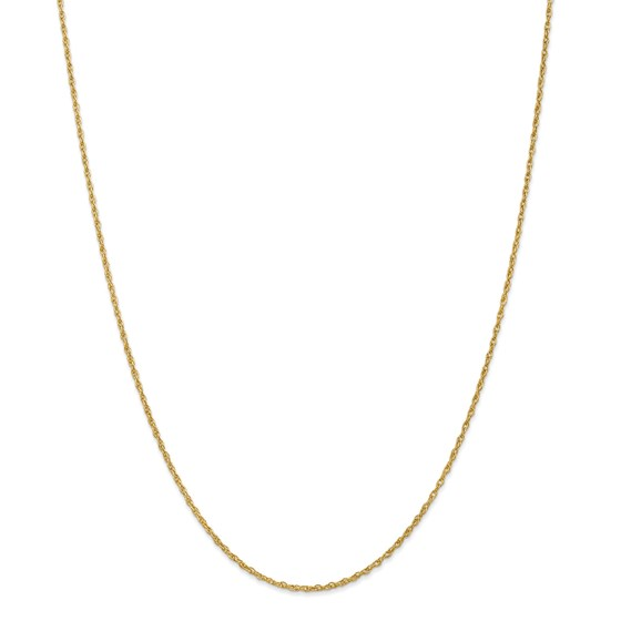 14k Gold 1.3 mm Heavy-Baby Rope Chain Necklace - 24 in.