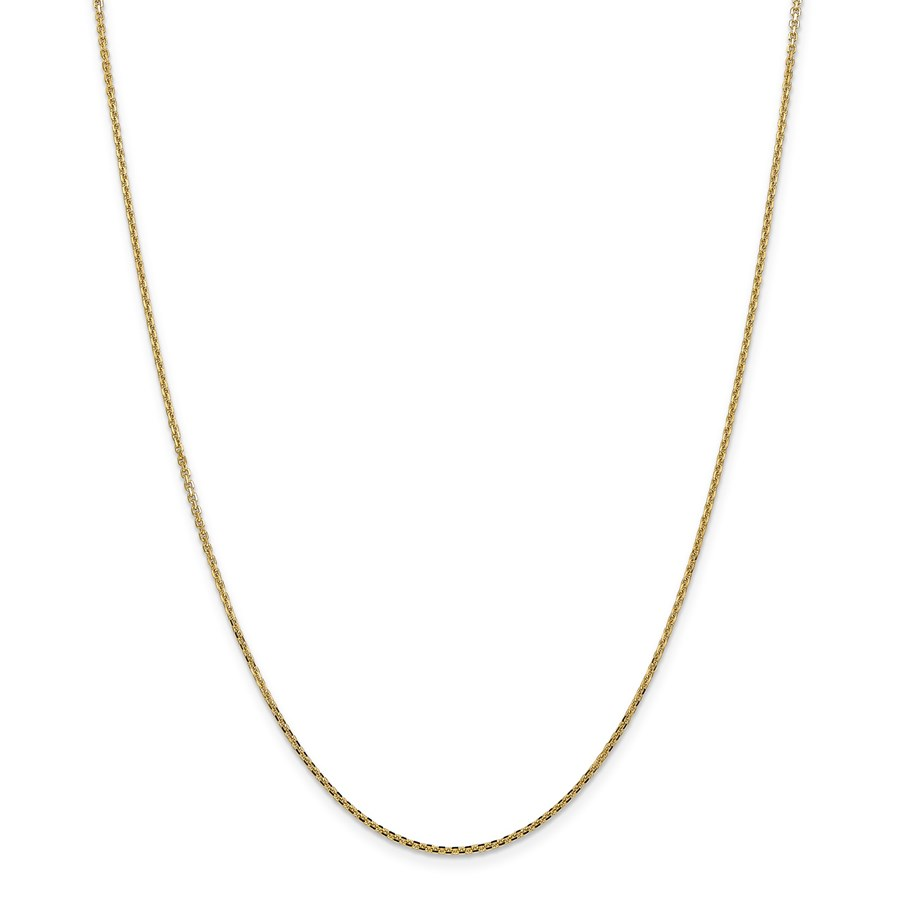 14k Gold 1.3 mm Solid Diamond-cut Cable Chain Necklace - 24 in.
