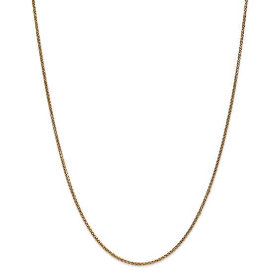 14k Gold 1.4 mm Diamond-cut Spiga Chain Necklace - 18 in.