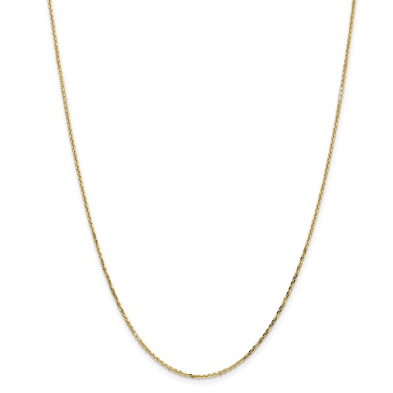 14k Gold 1.40 mm Diamond-cut Cable Chain Necklace - 24 in.