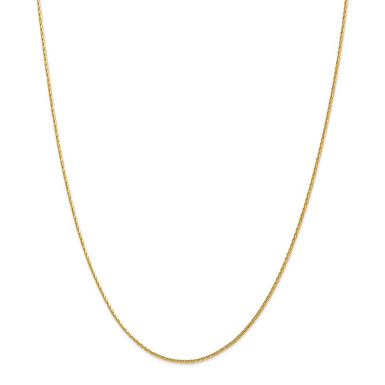 14k Gold 1.5 mm Diamond-cut Wheat Chain Necklace - 18 in.
