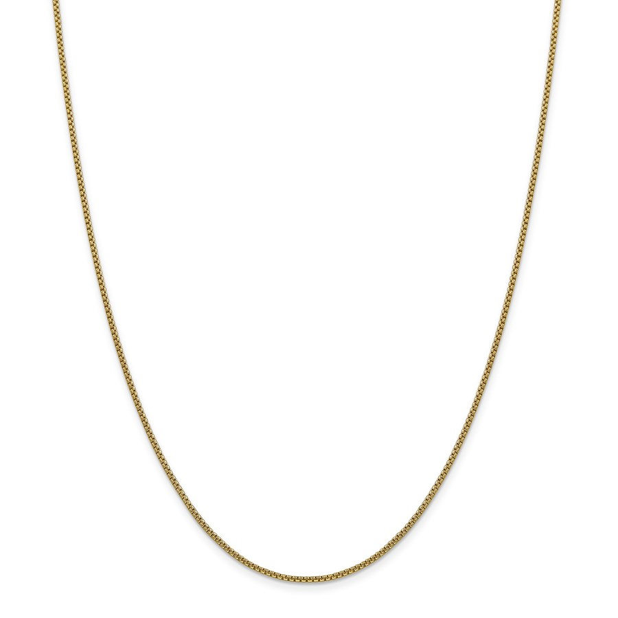 14k Gold 1.5 mm Hollow Round Box Chain Necklace - 16 in.