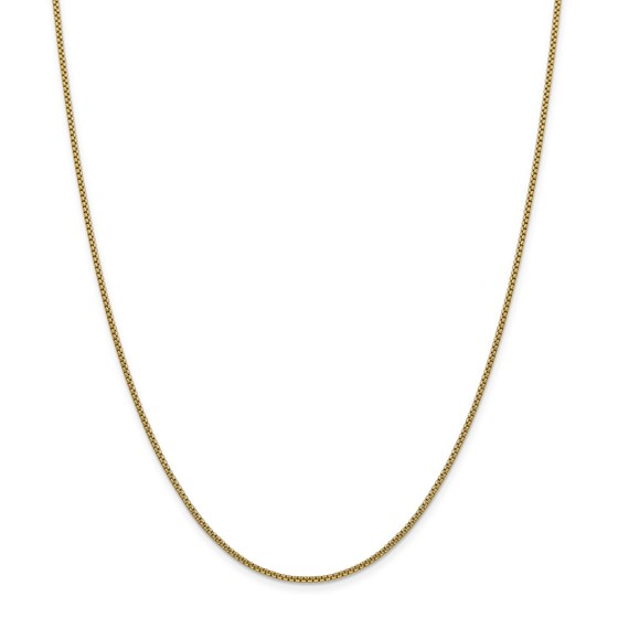 14k Gold 1.5 mm Hollow Round Box Chain Necklace - 18 in.