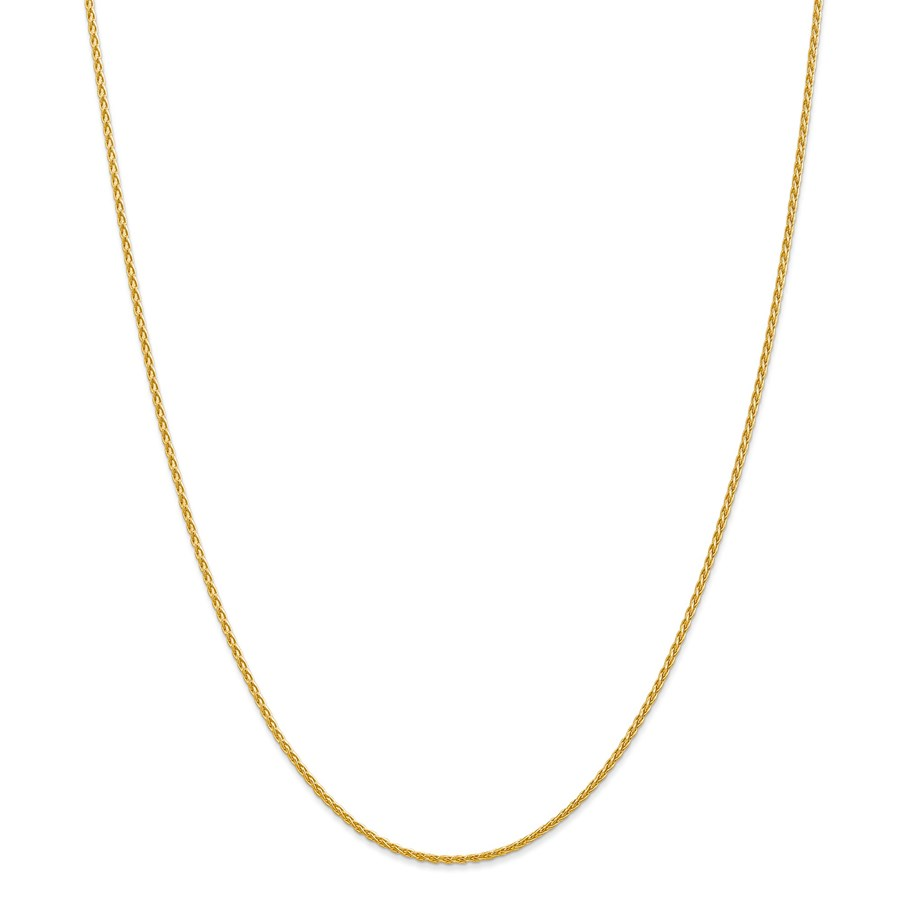 14k Gold 1.5 mm Parisian Wheat Chain Necklace - 16 in.