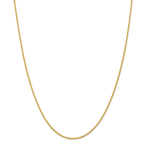 14k Gold 1.5 mm Parisian Wheat Chain Necklace - 24 in.