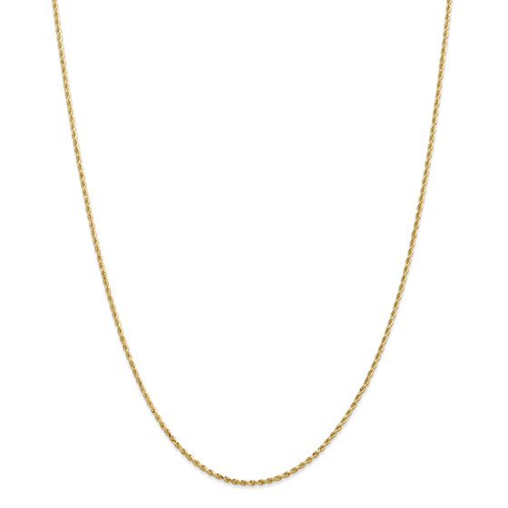 14k Gold 1.50 mm Diamond-cut Rope Chain Necklace - 16 in.