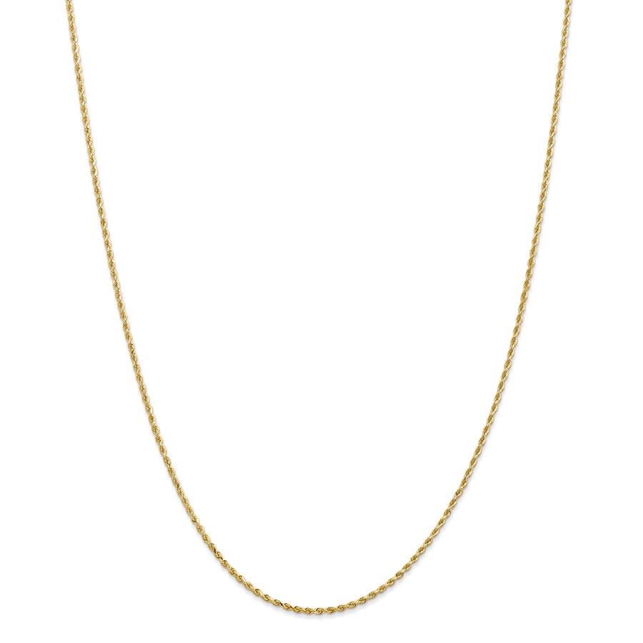 14k Gold 1.50 mm Diamond-cut Rope with Chain Necklace - 24 in.