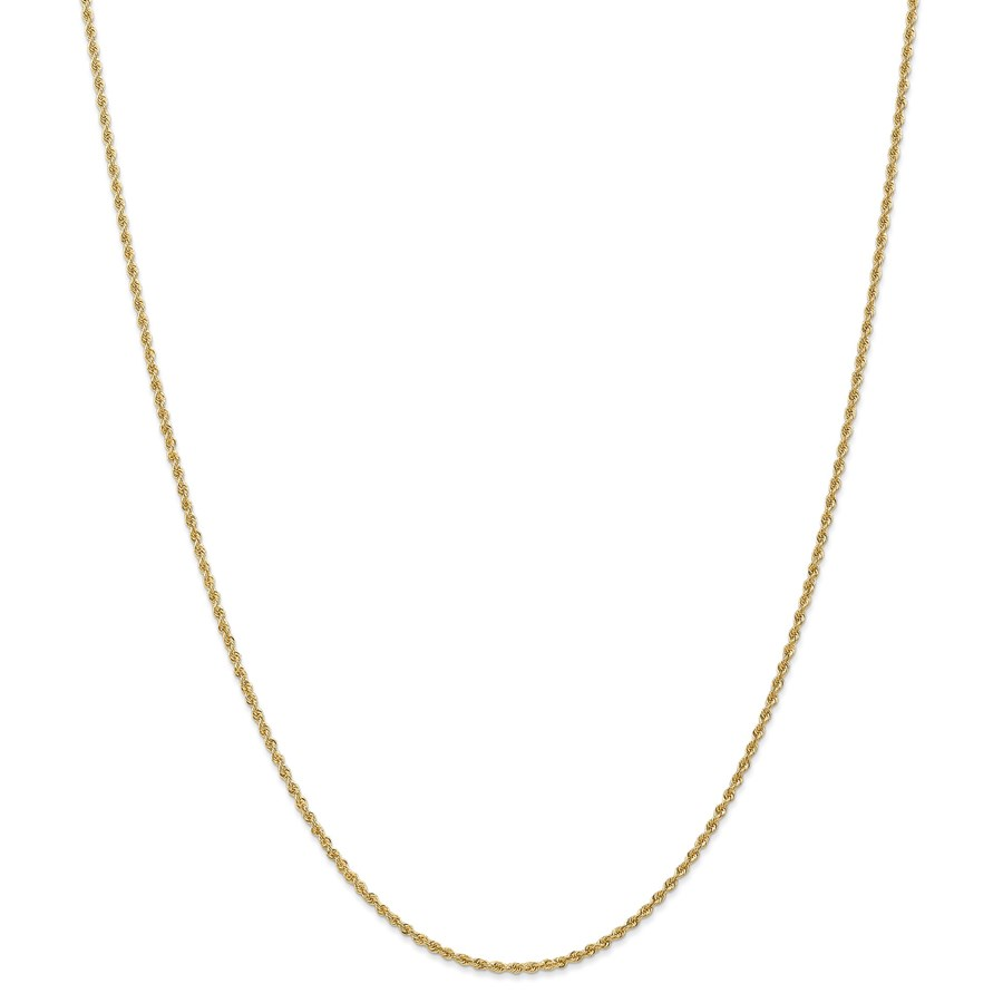 14k Gold 1.50 mm Handmade Regular Rope Chain Necklace - 24 in.