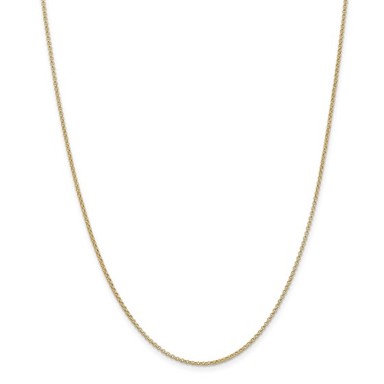 14k Gold 1.55 mm Rolo Pendant Chain Necklace - 18 in.