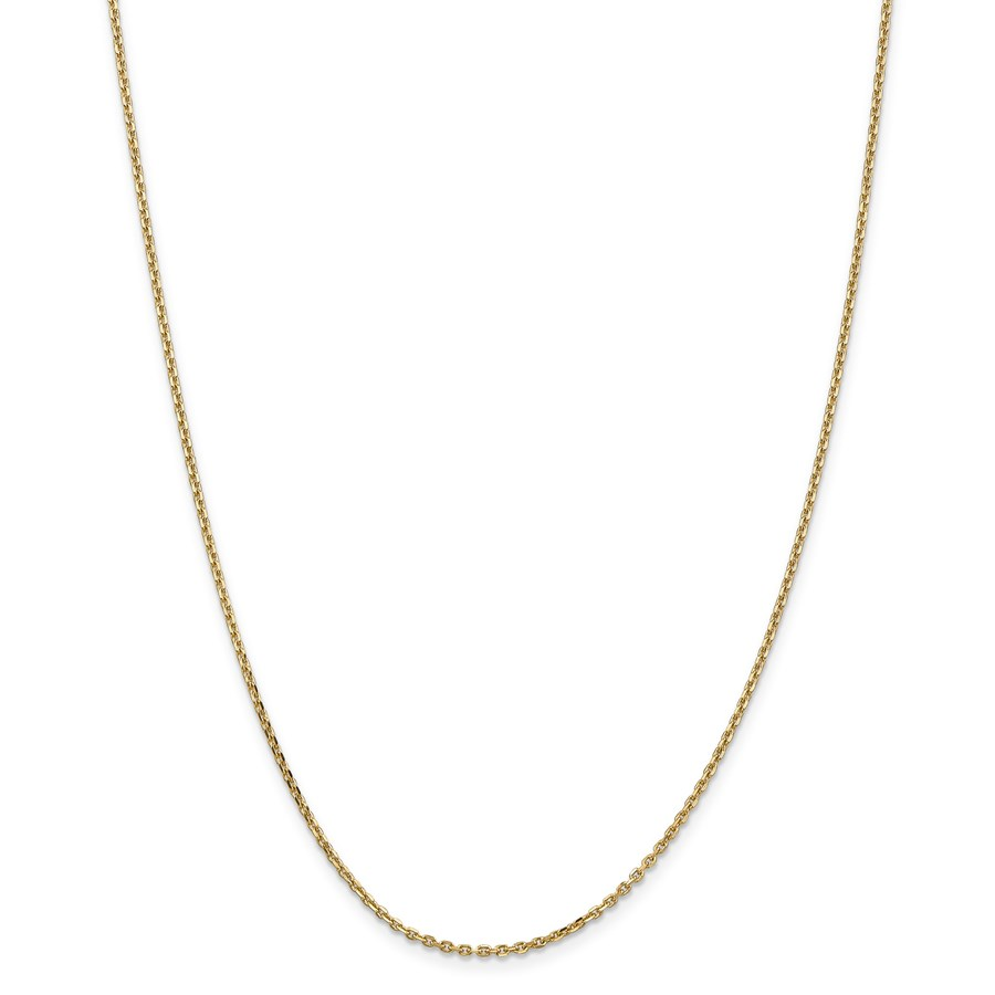 14k Gold 1.65 mm Solid Diamond-cut Cable Chain