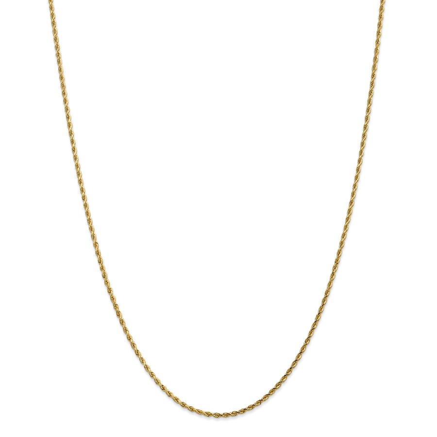14k Gold 1.75 mm Diamond-cut Rope Chain Necklace - 16 in.