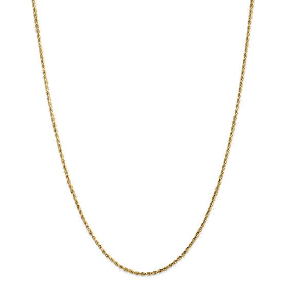 14k Gold 1.75 mm Diamond Cut Rope w/Lobster Clasp Chain - 24 in.