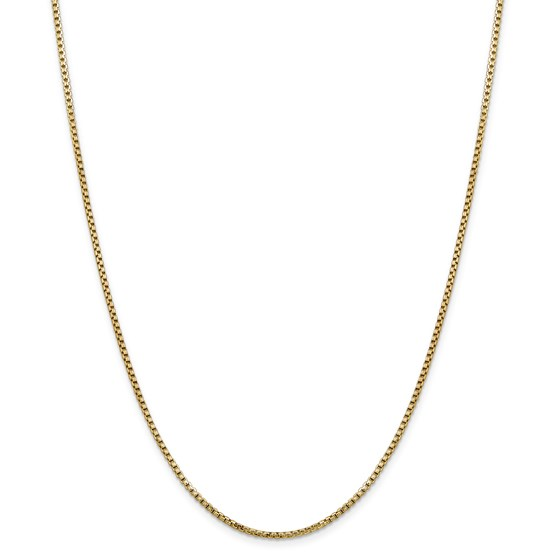 14k Gold 1.75 mm Hollow Round Box Chain Necklace - 20 in.