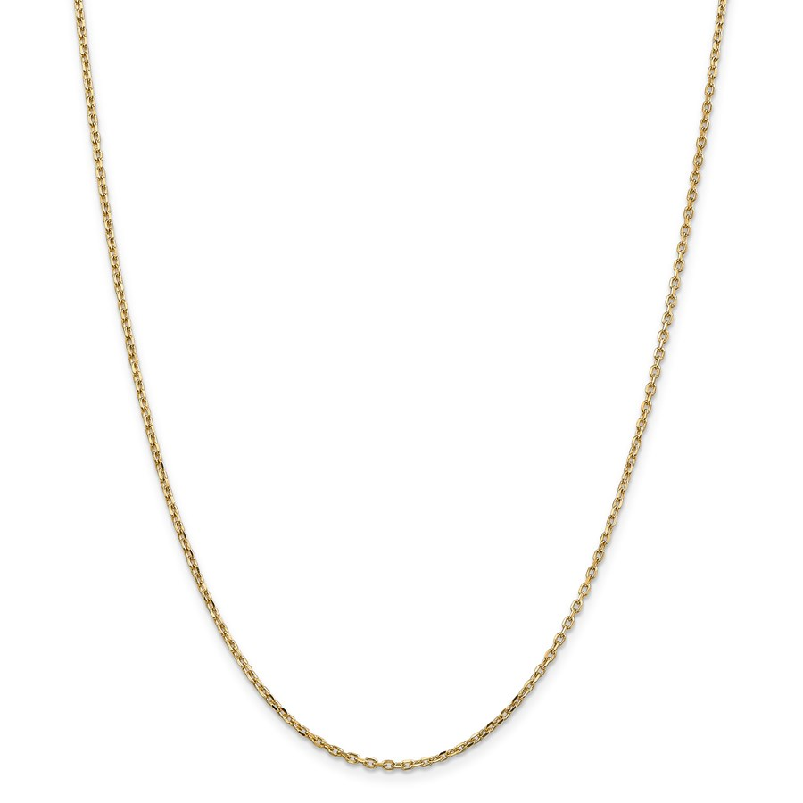 14k Gold 1.8 mm Diamond-cut Cable Chain Necklace - 18 in.