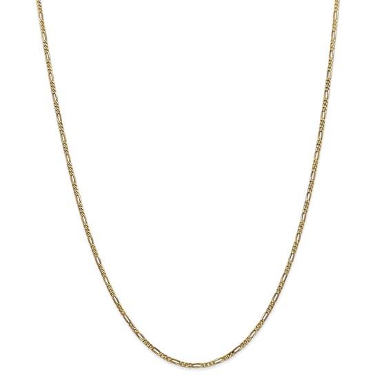 14k Gold 1.80 mm Flat Figaro Chain - 18 in.