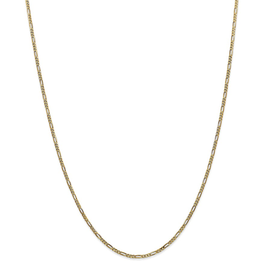 14k Gold 1.80 mm Flat Figaro Chain Necklace - 24 in.