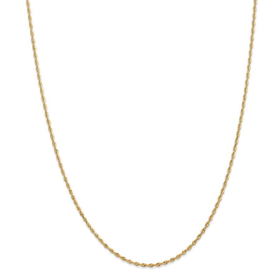 14k Gold 1.84 mm Quadruple Rope Chain Necklace - 20 in.