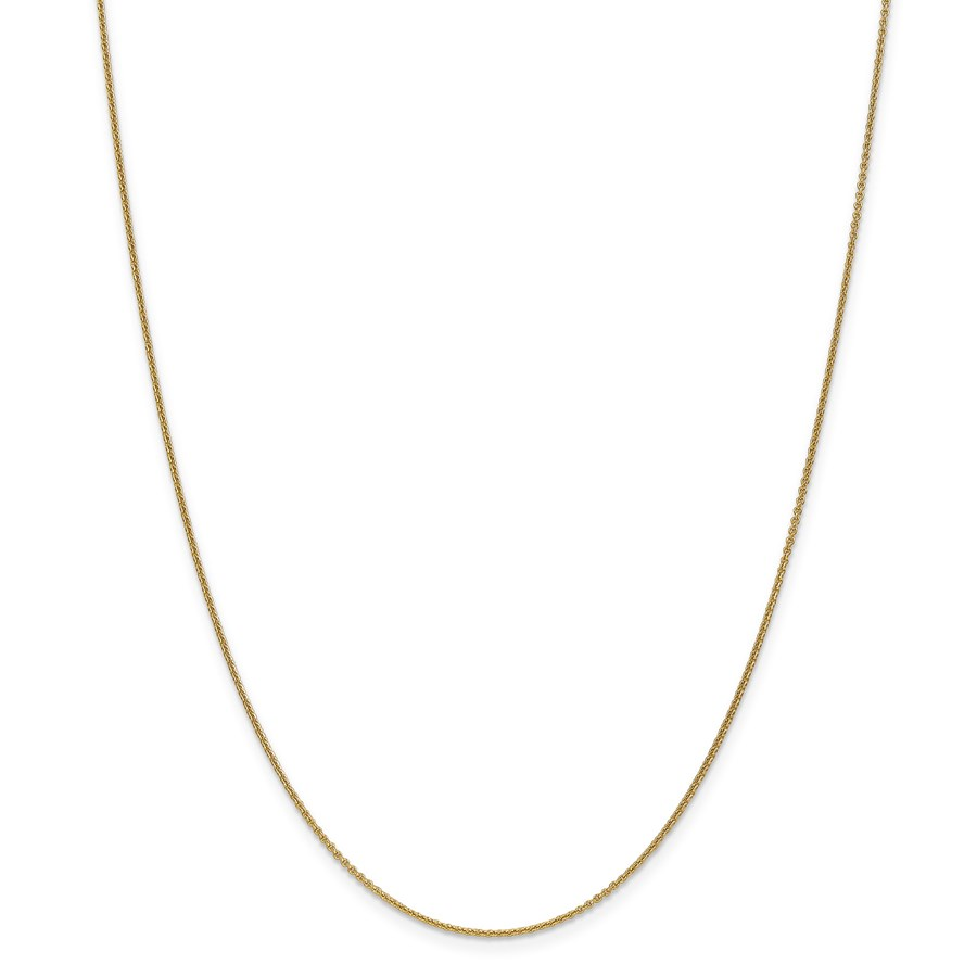 14k Gold 1 mm Cable Chain Necklace - 24 in.