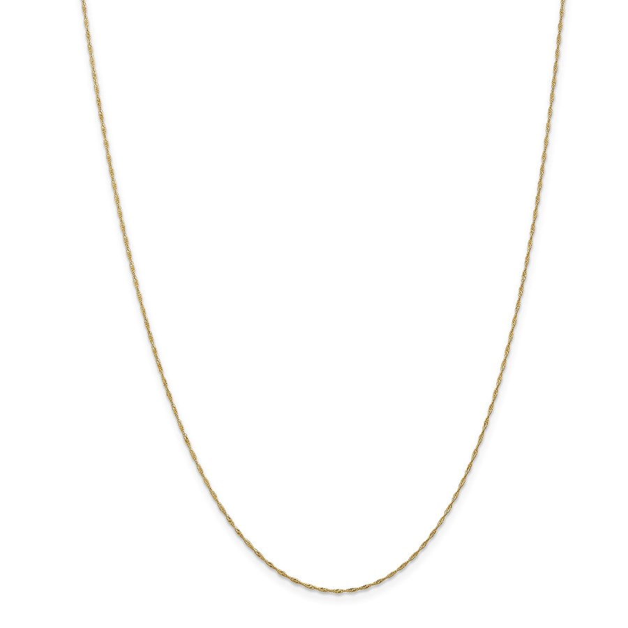 14k Gold 1 mm Singapore Chain Necklace - 24 in.