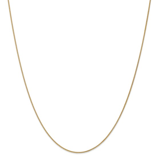 14k Gold 1 mm Solid Polished Spiga Chain Necklace - 16 in.