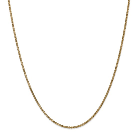 14k Gold 1 mm Solid Polished Spiga Chain Necklace - 18 in.
