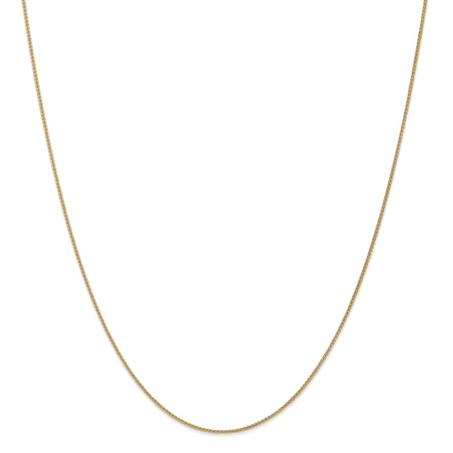14k Gold 1 mm Solid Polished Spiga Chain Necklace - 20 in.