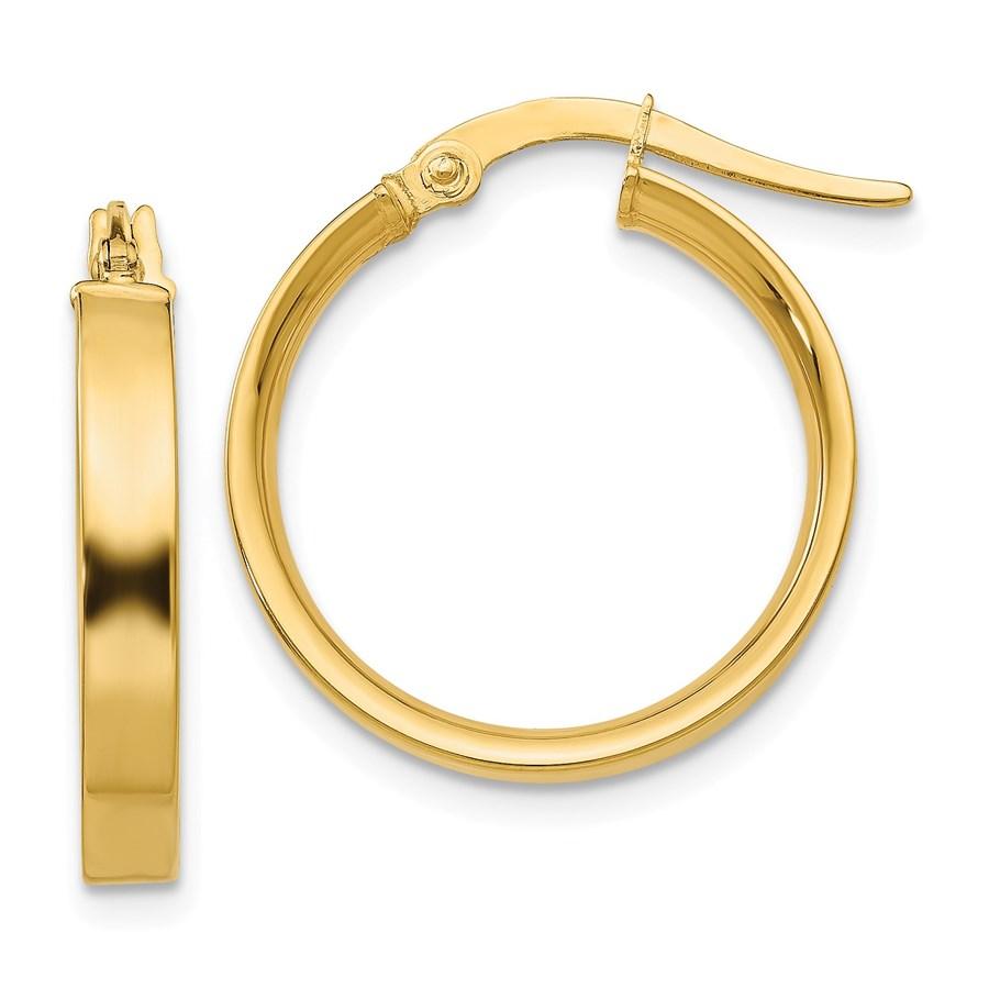 14k Gold 16 mm Hoop Earrings
