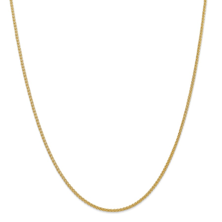 14k Gold 2.00 mm Semi-Solid Chain Necklace - 20 in.