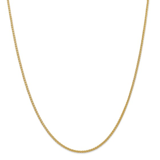 14k Gold 2.00 mm Semi-solid Chain Necklace - 24 in.