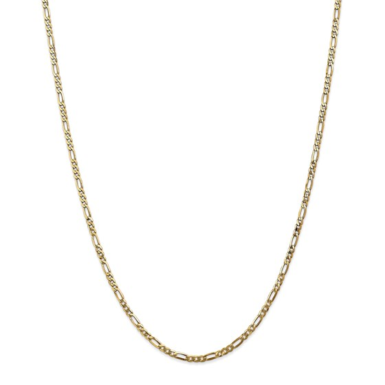 14k Gold 2.75 mm Flat Figaro Chain Necklace - 24 in.