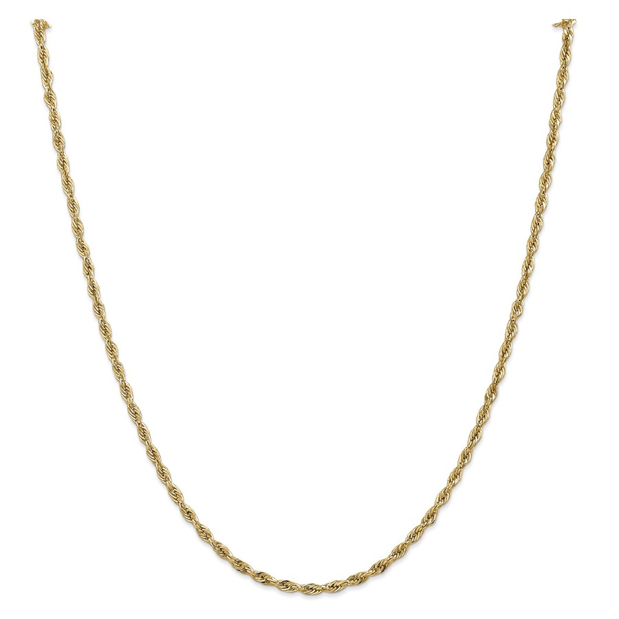 14k Gold 2.8 mm Semi-Solid Rope Chain Necklace - 20 in.