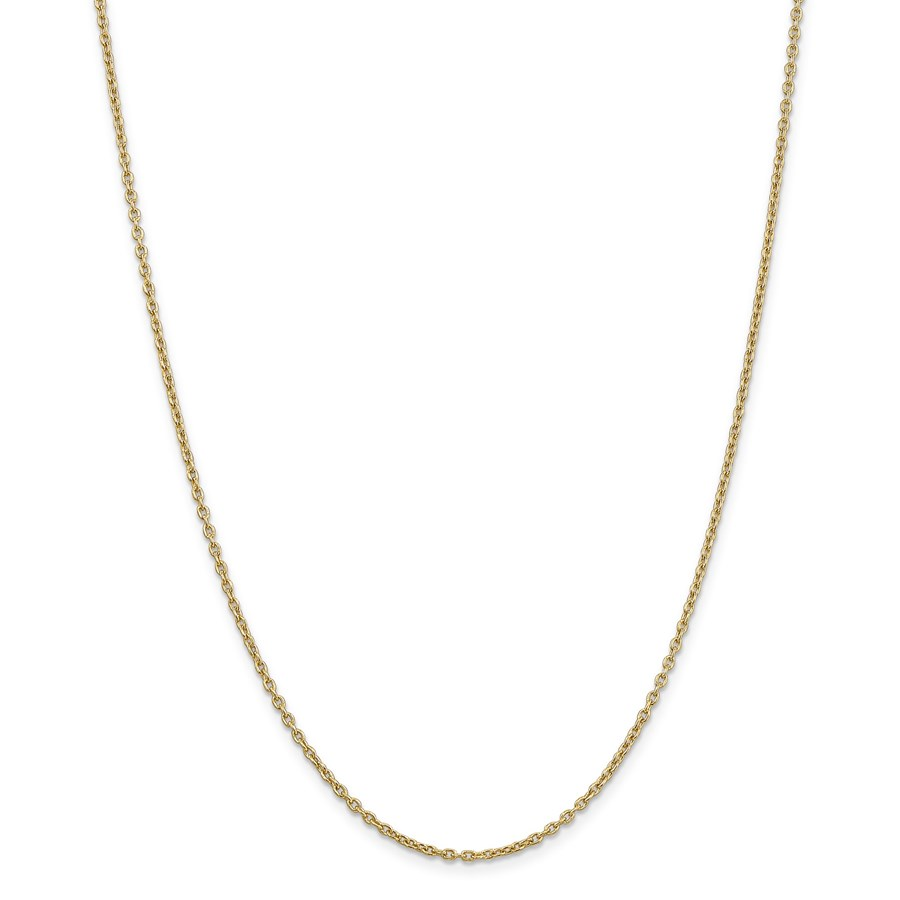 14k Gold 2 mm Cable Chain Necklace - 18 in.