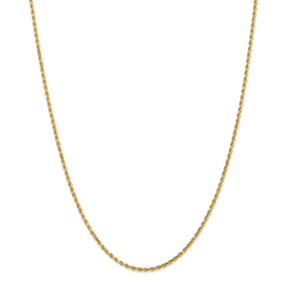 14k Gold 2 mm Diamond-cut Rope Chain Necklace - 22 in.