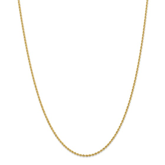 14k Gold 2 mm Handmade Regular Rope Chain Necklace - 20 in.