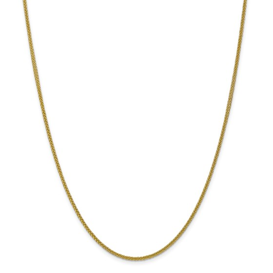 14k Gold 2 mm Semi-solid 3-Wire Wheat Chain Necklace - 20 in.