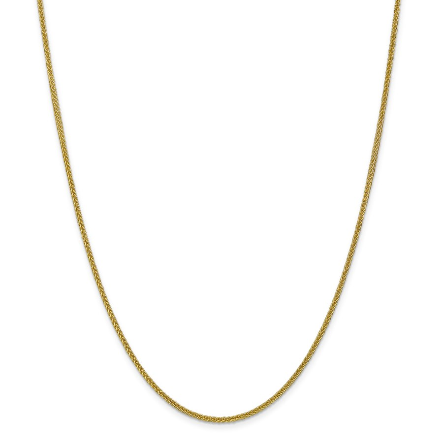 14k Gold 2 mm Semi-solid 3-Wire Wheat Chain Necklace - 24 in.