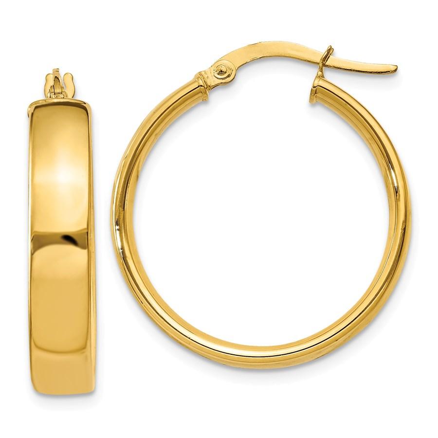 14k Gold 21 mm Hoop Earrings