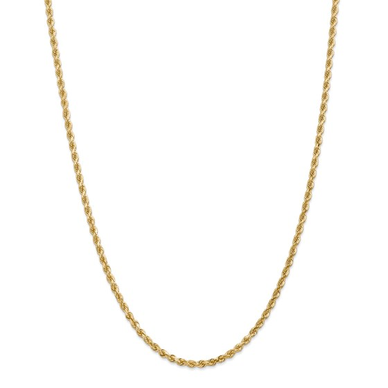14k Gold 3.20 mm Diamond-cut Rope with Chain Necklace - 30 in.