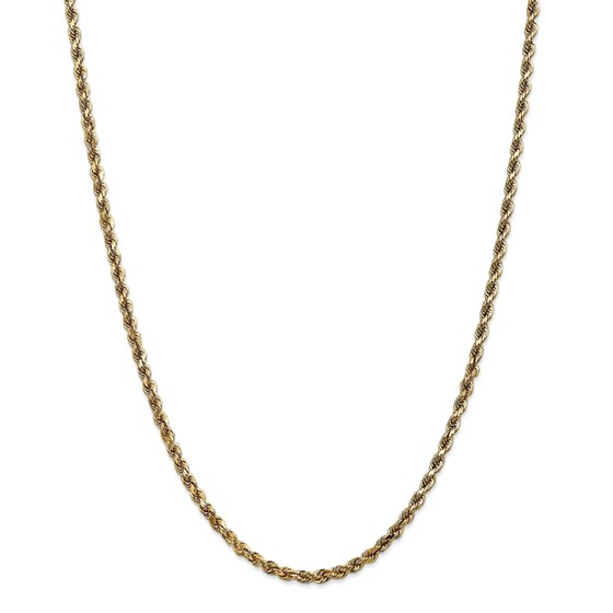 14k Gold 3.5 mm Diamond-cut Rope with Chain Necklace - 24 in.