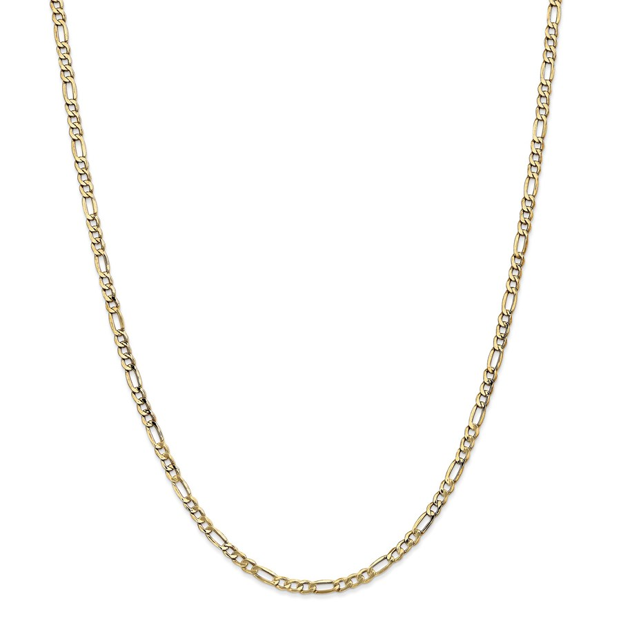 14k Gold 3.5 mm Semi-Solid Figaro Chain Necklace - 24 in.