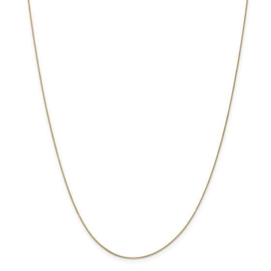 14k Gold .5 mm Box Chain Necklace - 14 in.