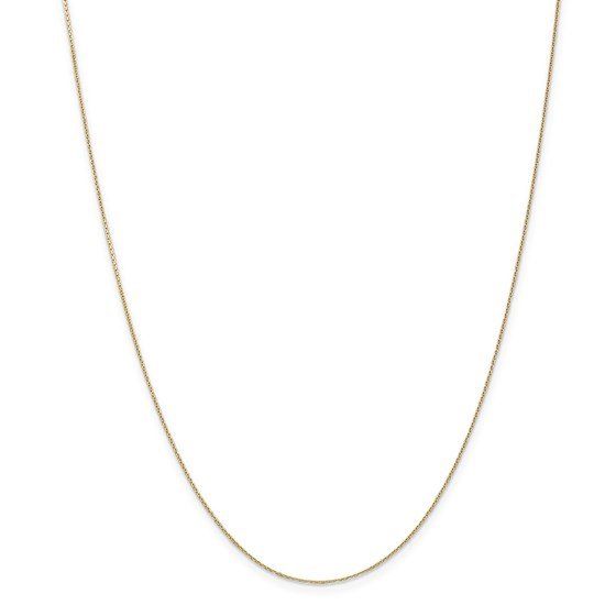 14k Gold .65 mm Diamond-cut Cable Chain Necklace - 16 in.